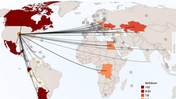 Schiedsverfahren: Grafiken: Wo Konzerne ganze Staaten verklagen