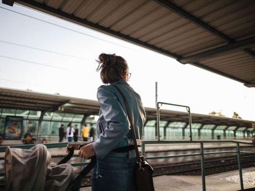 ICEs derDeutschen Bahn am Betriebsbahnhof Rummelsburg