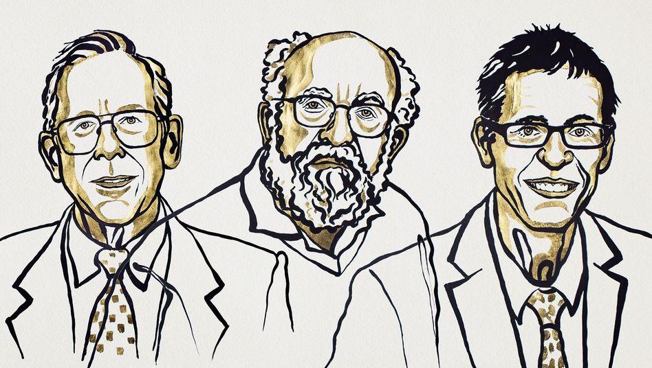 Forscher Peebles, Mayor und Queloz (v.l.)