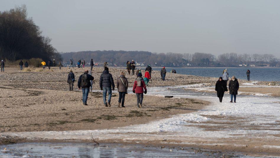 Falkensteiner Strand: Strandspaziergang an der Kieler Förde