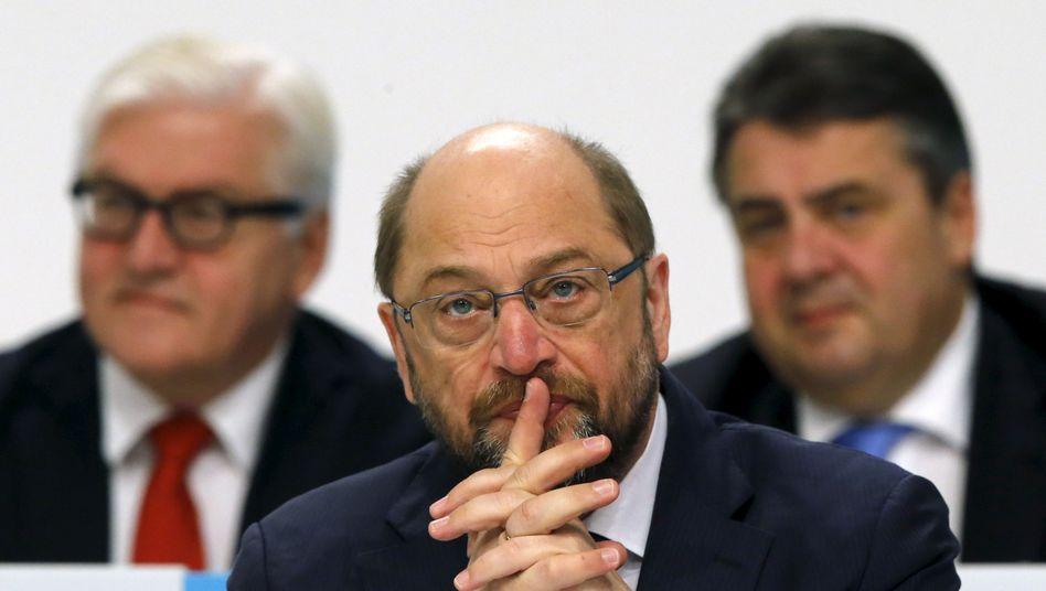 Frank-Walter Steinemeier, Martin Schulz, Sigmar Gabriel