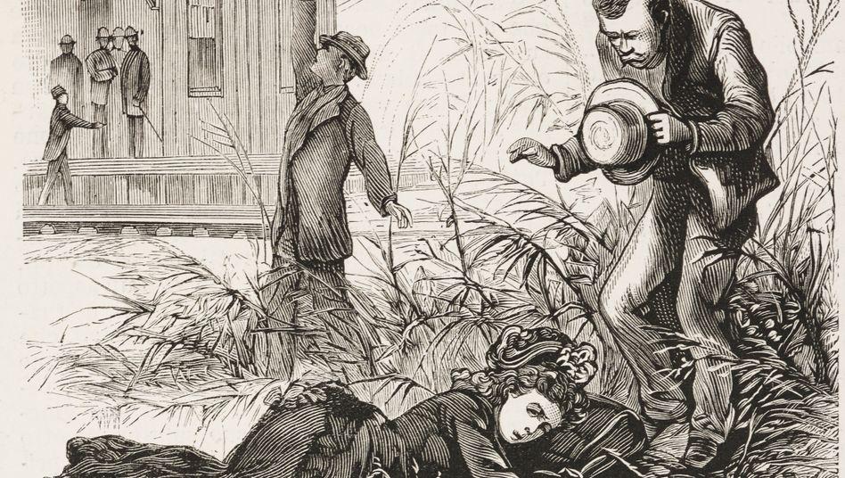 Epidemie in New Orleans: Eine Frau stirbt an Gelbfieber (Bild von 1878)