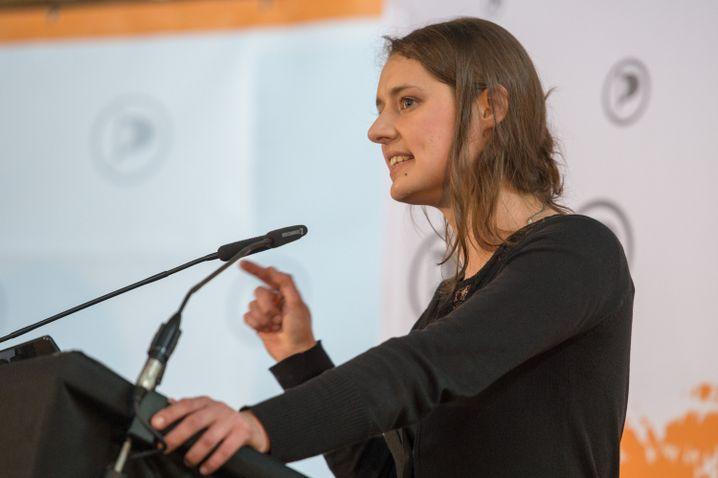 Piraten-Politikerin Katharina Nocun ist am Donnerstag in Gießen