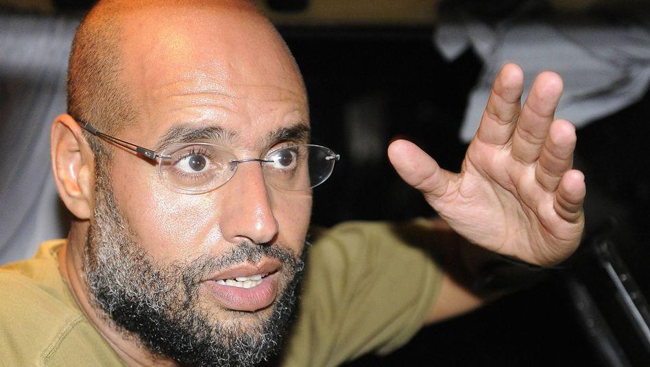 Saif al-Islam (im August 2011): Damals gaben sich die Gaddafis noch siegessicher