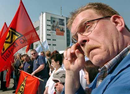 """Protestierende Siemens-Arbeiter in Bocholt: """"Riesiger existenzieller Druck"""""""