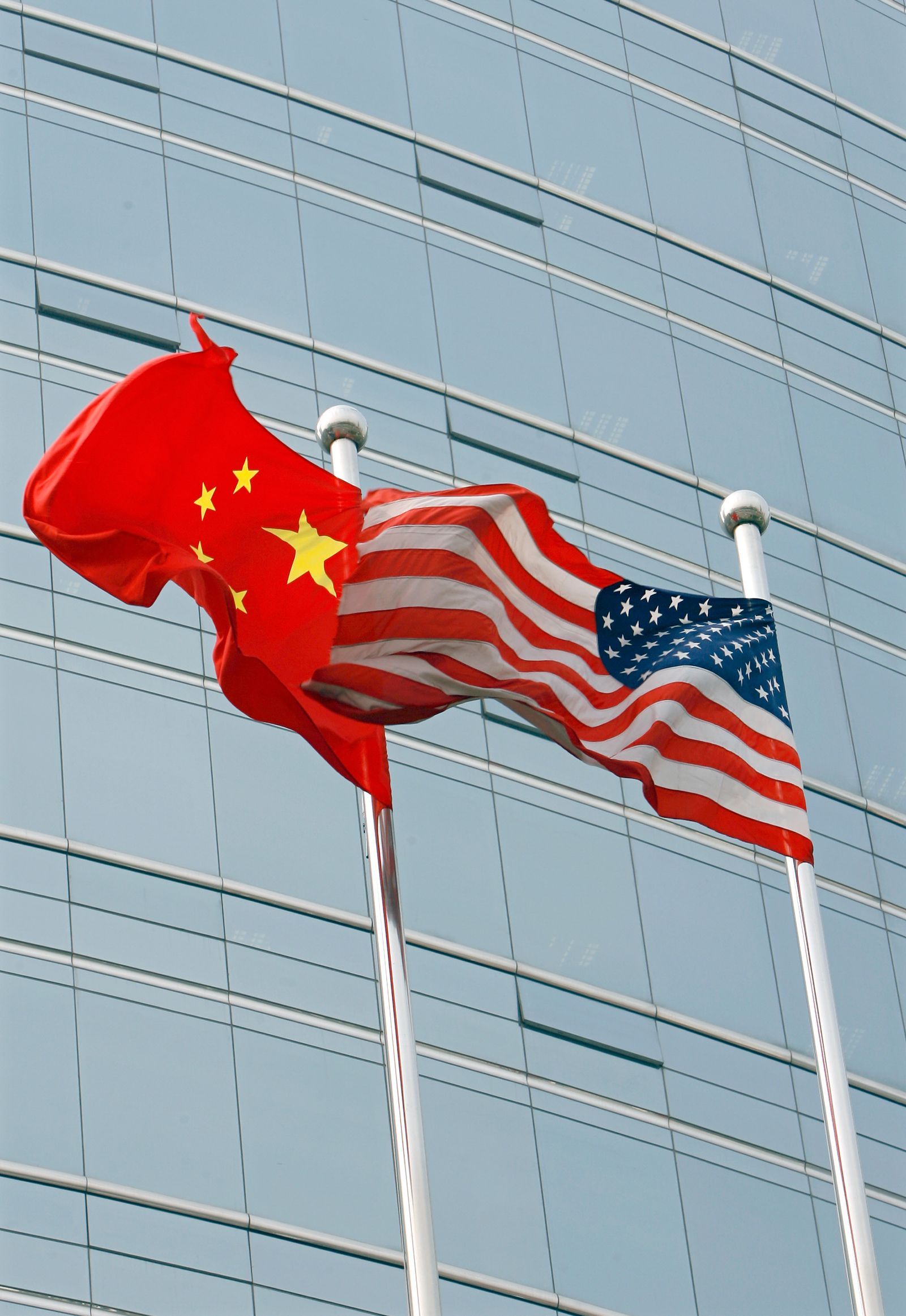 Flaggen / China / USA