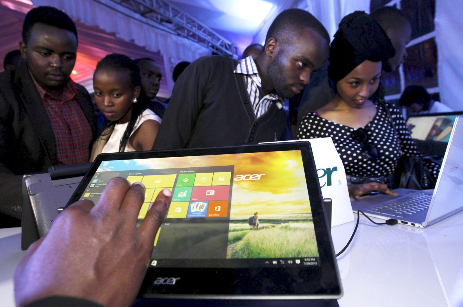 NICHT MEHR VERWENDEN! - Symbolbild Internet/ Notbook/ Laptop/ Kenya/ Microsoft/ Arika