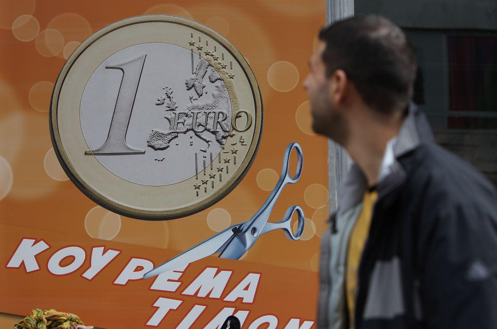 NICHT VERWENDEN Finanzkrise/Griechenland, Fußbänger