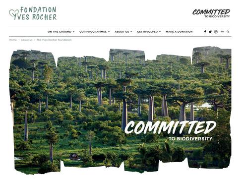 Heile Welt: Die Homepage der Stiftung von Yves Rocher
