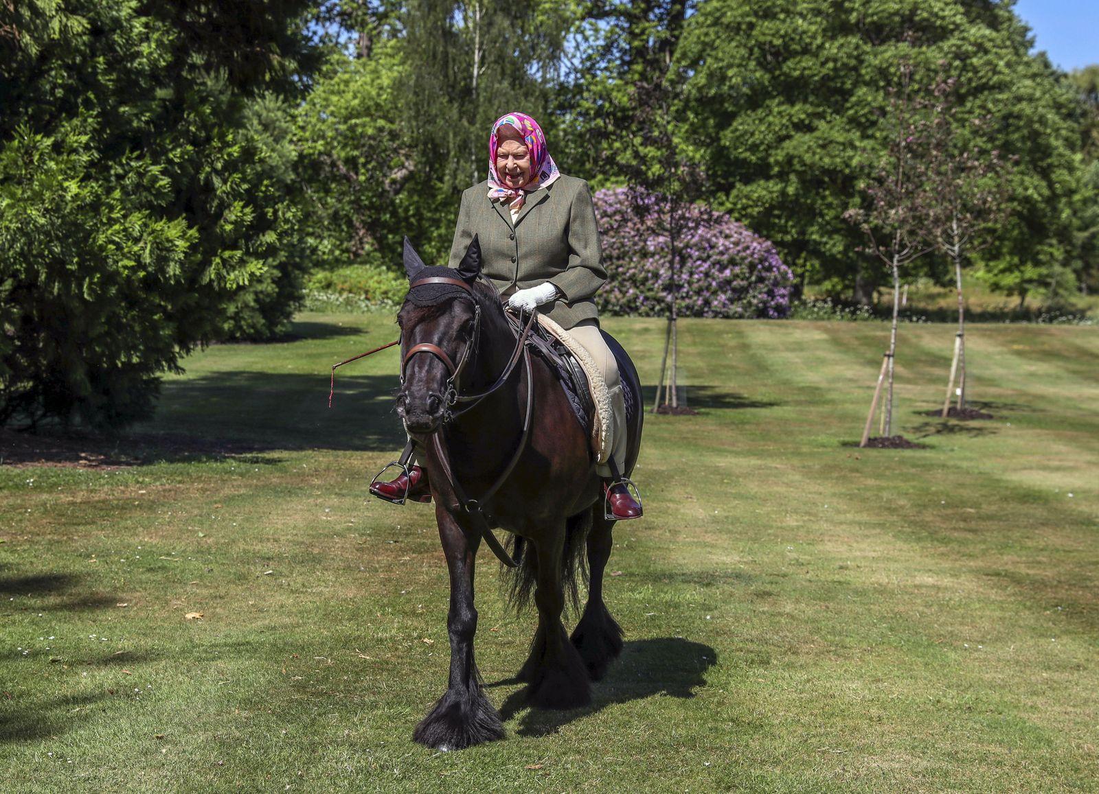 Queen Elizabeth II In Windsor Home Park