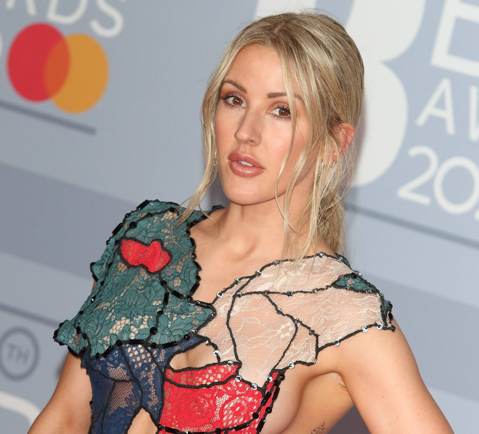 February 18, 2020, London, United Kingdom: Ellie Goulding attends the 40th Brit Awards Red Carpet arrivals at The O2 Are