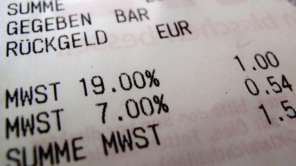 Kassenbeleg: Ab 1. Juli sinkt die Mehrwertsteuer für sechs Monate