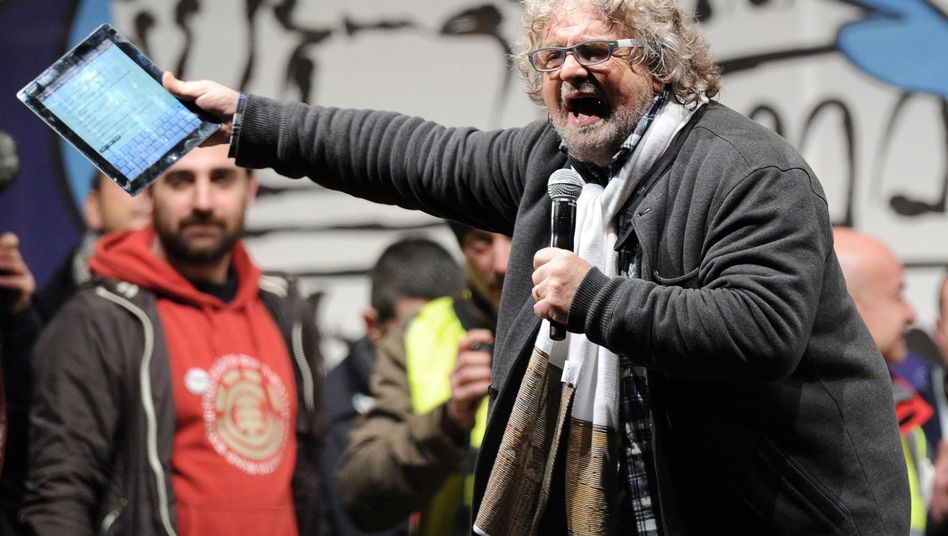 The biggest winner: Boisterous veteran comedian Beppe Grillo' anti-establishment party got more votes than any other.