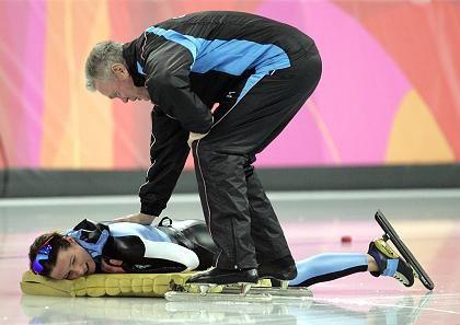 """Eisschnellläuferin Pechstein, Trainer Franke: """"Ich bin glücklich, dass ich fertig bin"""