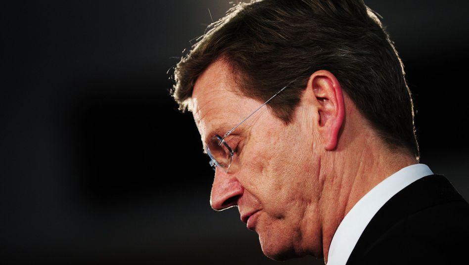 Außenminister Guido Westerwelle: Opposition moniert Verantwortungslosigkeit