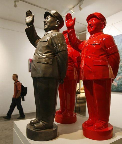 """Mao-Plastiken im """"798 Art District"""" in Peking: Kniefall vor dem Steuermann"""