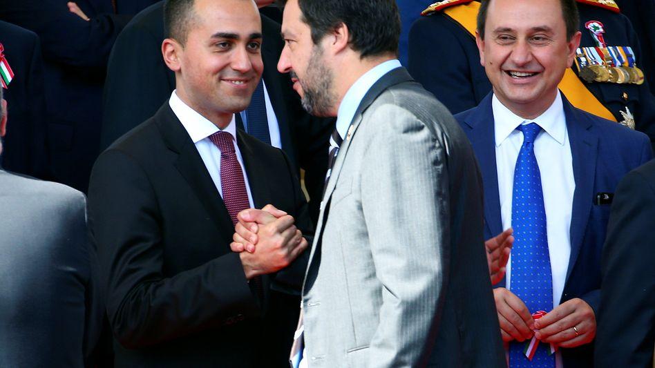 Fünf-Sterne-Chef Luigi Di Maio und Lega-Vorsitzender Matteo Salvini (Juni 2018)