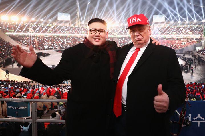 Doubles von Kim und Trump