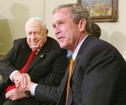 Partner Scharon, Bush(2002): Den Friedensplan torpediert?