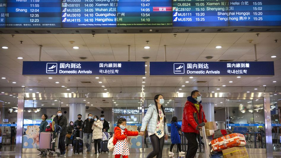 Flughafen Peking: Das Neujahrsfest ist eine der Hauptreisezeiten in China