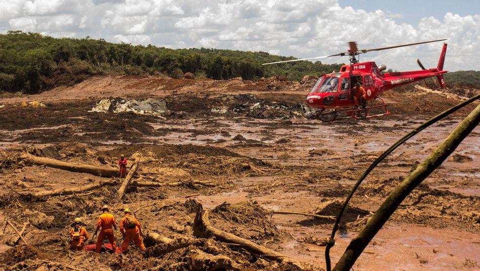 Brumadinho im Januar 2019: 259 Leichen wurden bislang geborgen; elf Menschen werden noch immer vermisst