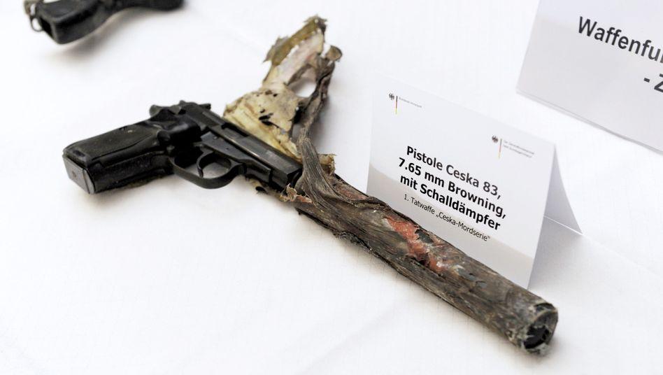 Tatwaffe der Ceska-Morde (Archivbild): Durch Brand beschädigt
