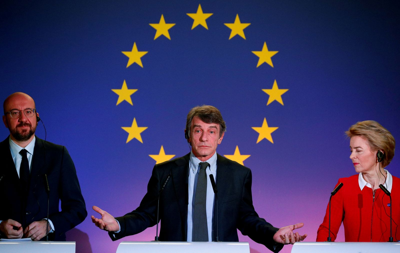 EU institutions leaders comment on the future of Europe in Brussels