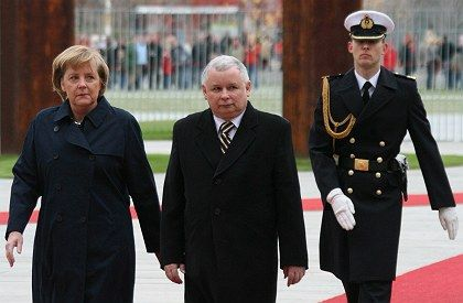 Polish Prime Minister Jaroslaw Kaczynski was in Berlin on Monday for a visit with German Chancellor Angela Merkel.