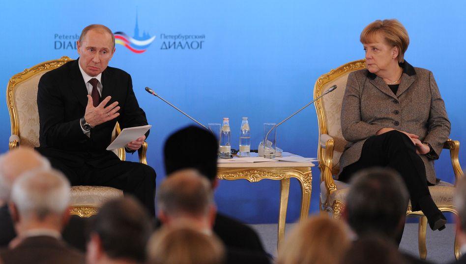 """Putin und Merkel: """"Das wäre in Deutschland nicht passiert"""""""