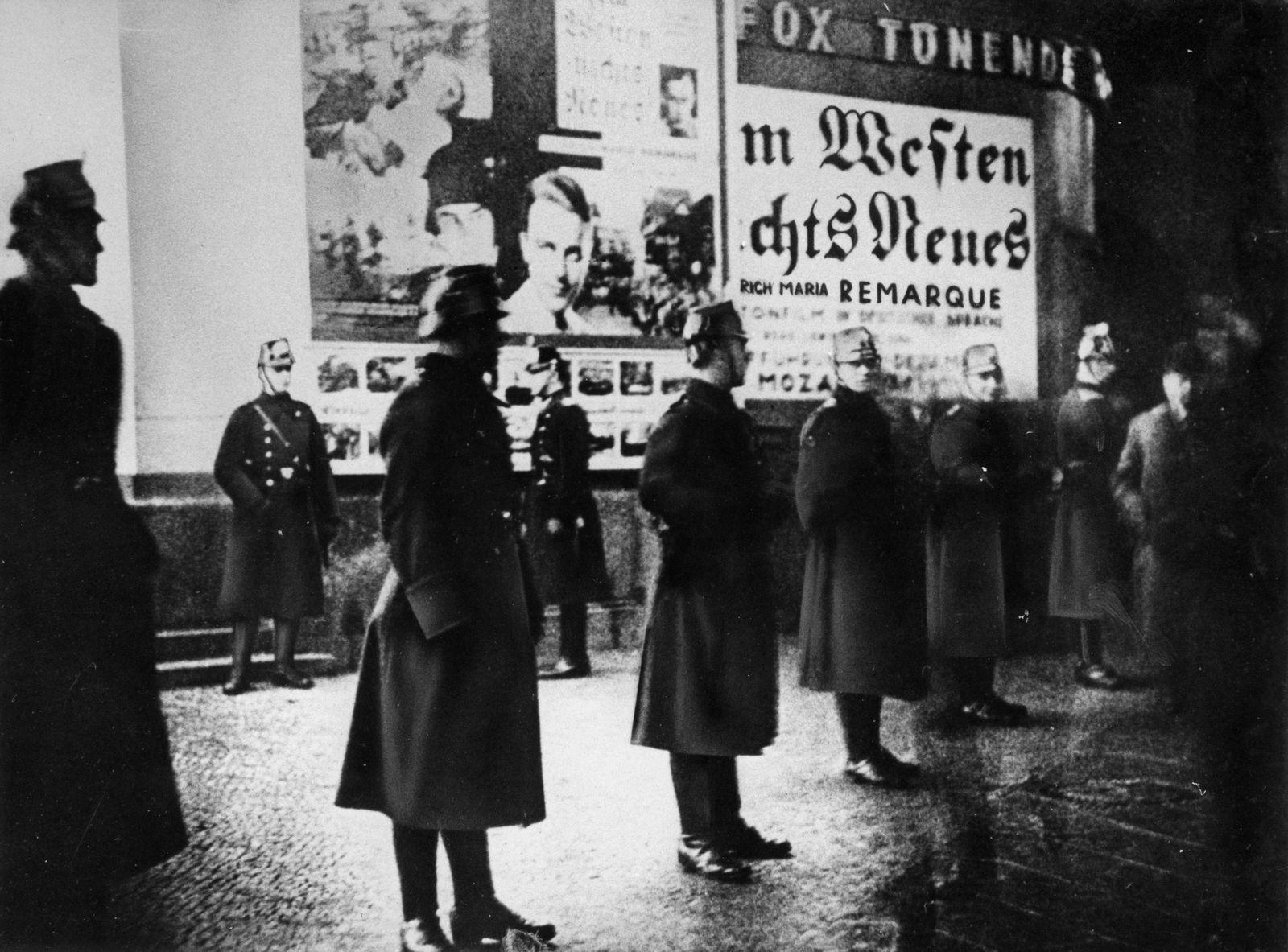 Unruhen bei der Uraufführung des Films 'Im Westen nichts Neues', 1930
