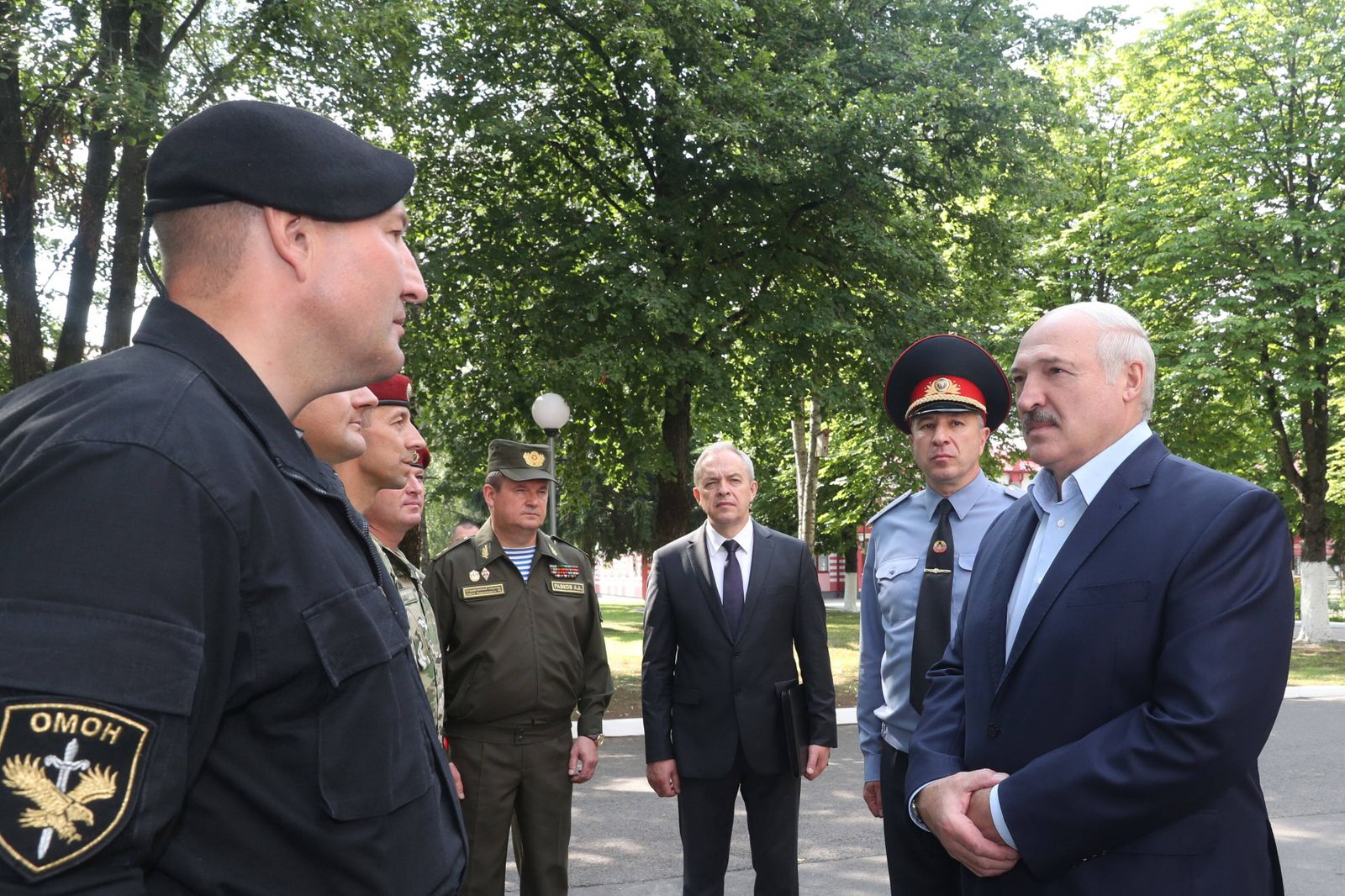 MINSK, BELARUS - JULY 28, 2020: The President of Belarus, Alexander Lukashenko (R front) and Security Council of Belaru