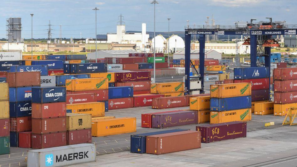 Containerhafen im britischen Teesport: Handelspakt mit drei europäischen Ländern steht