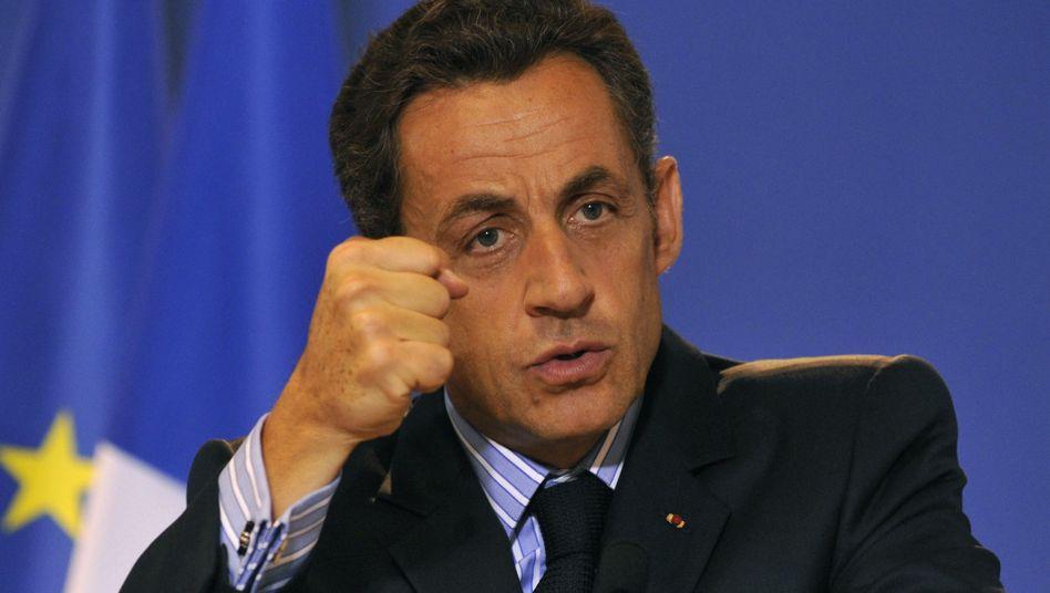 """Frankreichs Präsident Sarkozy: """"Zuckerbrot und Peitsche"""""""