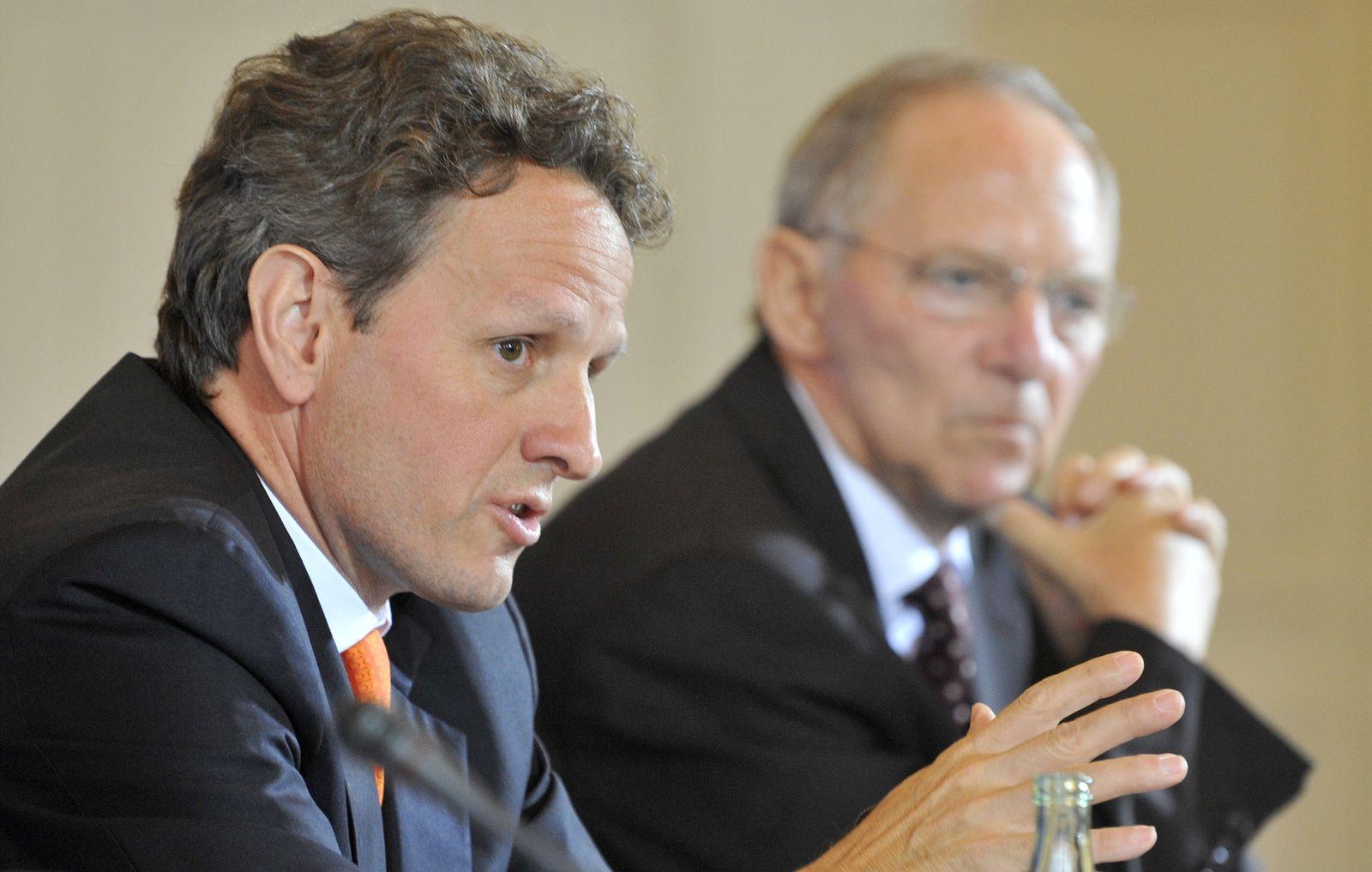 NICHT VERWENDEN Geithner Schäuble