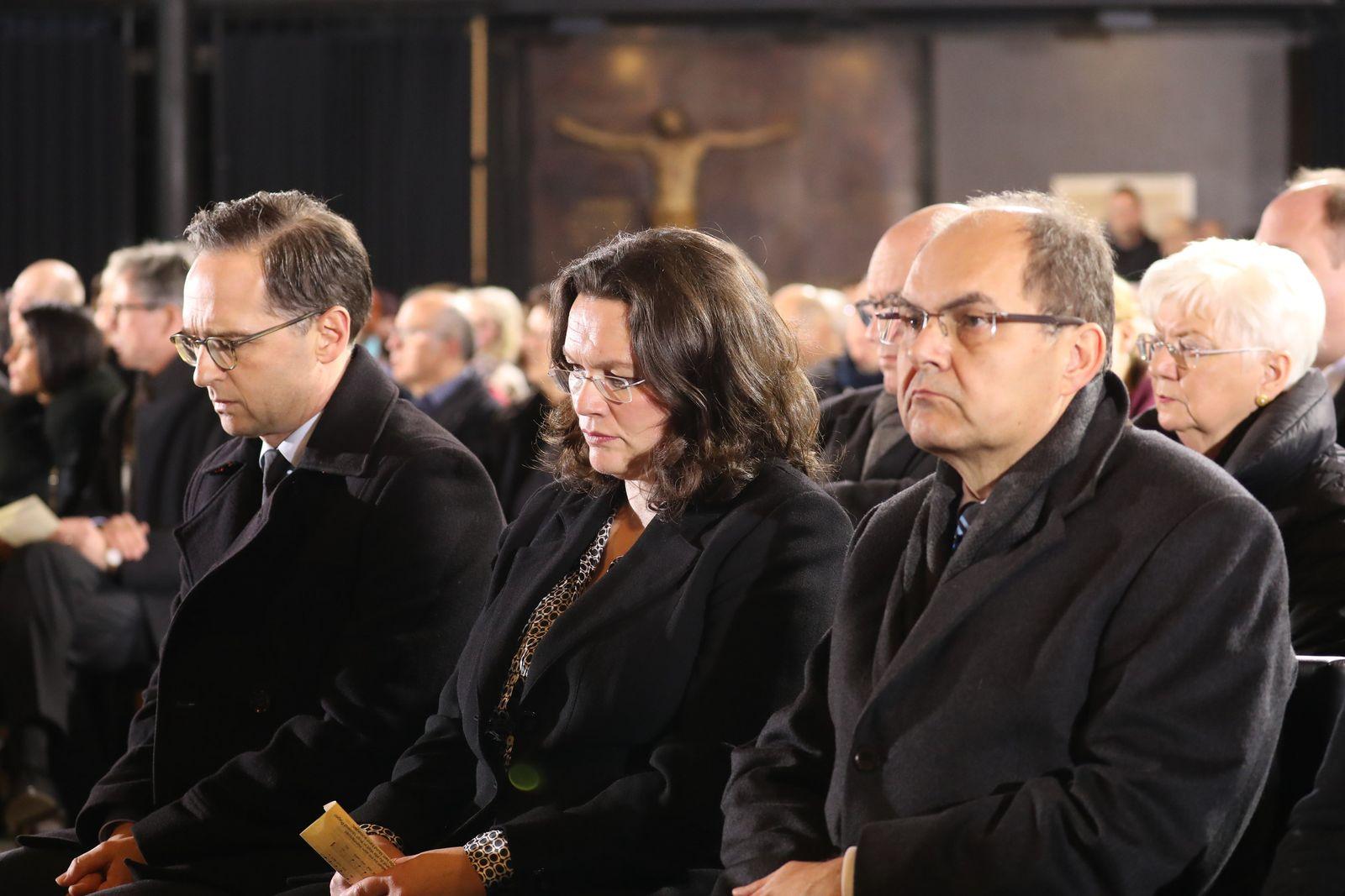 Trauergottesdienst in der Gedächtniskirche Andrea Nahles