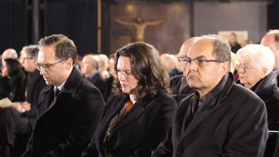 Andrea Nahles am 20.12. beim Trauergottesdienst zum Gedenken an die Opfer