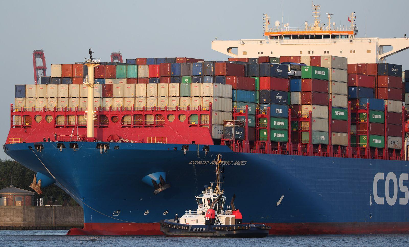 Containerschiff/ Hamburg/ Hafen