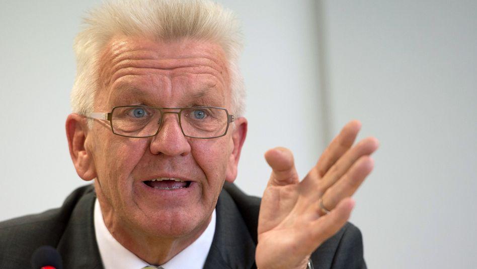 """Grünen-Politiker Kretschmann (am 24. September): """"Etwas tun, dass die Menschen sich einbringen können"""""""