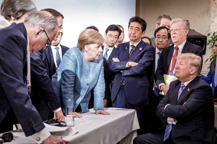 Angela Merkel, Donald Trump beim G7-Gipfel