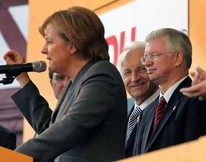 Merkel, Koch, Stoiber: Rückendeckung für die CDU-Chefin