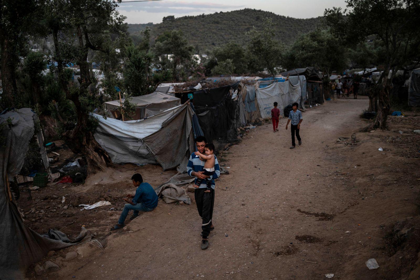 Geflüchtete auf Lesbos