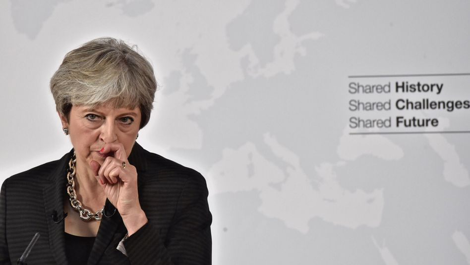 Theresa May am Freitag in Florenz