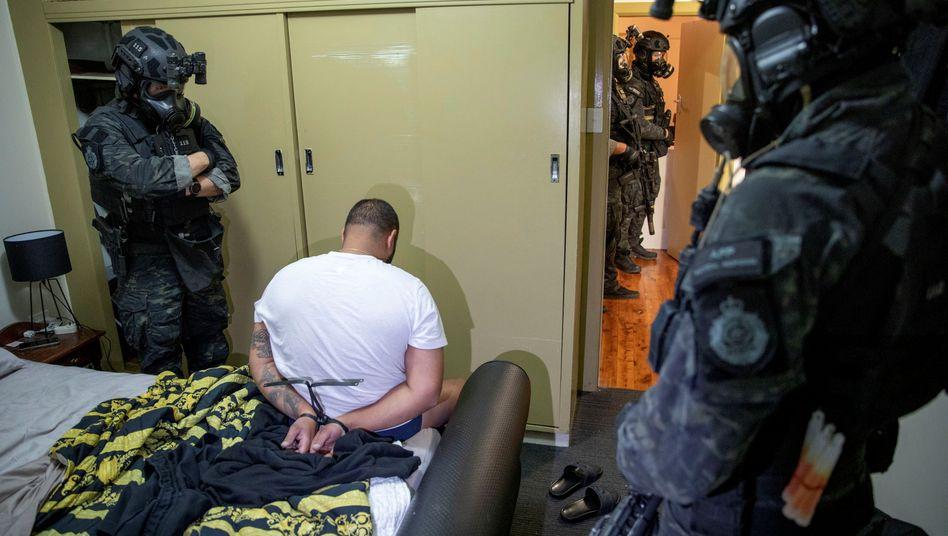 Festnahme der australischen Polizei