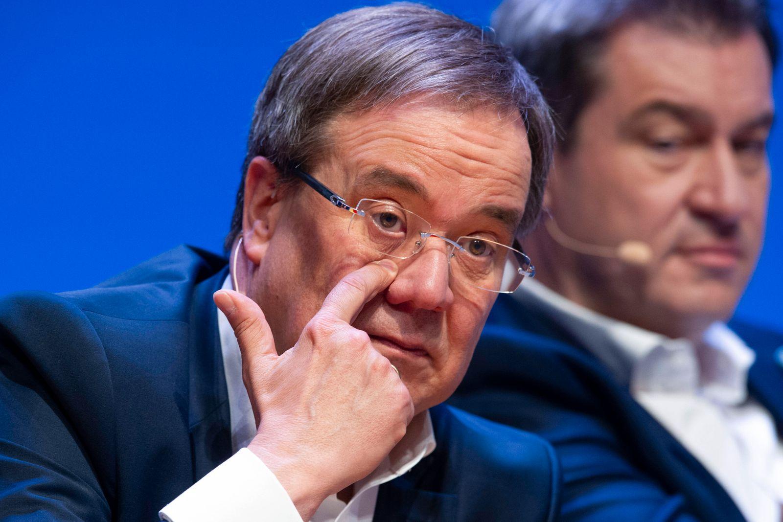 Machtkampf zwischen Markus SOEDER (Ministerpraesident Bayern und CSU Vorsitzender) und Armin LASCHET Archivfoto: Armin L