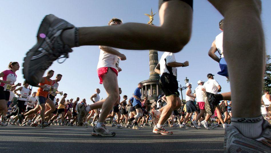 Läufer beim Berlin-Marathon