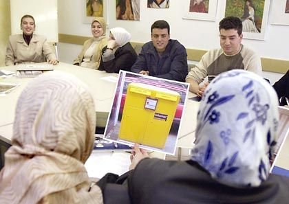 An integration course for foreigners in Germany.