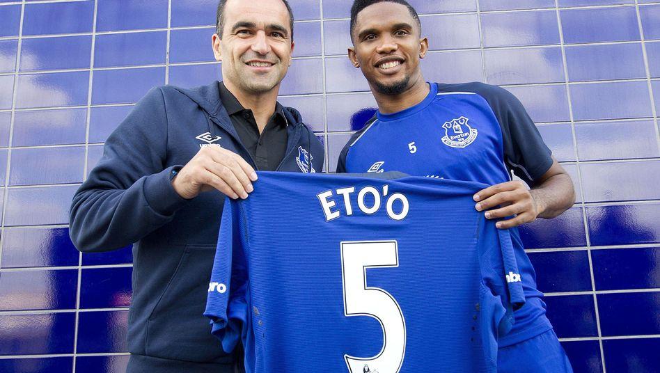 Eto'o: Anfang der Woche unterschrieb er beim FC Everton