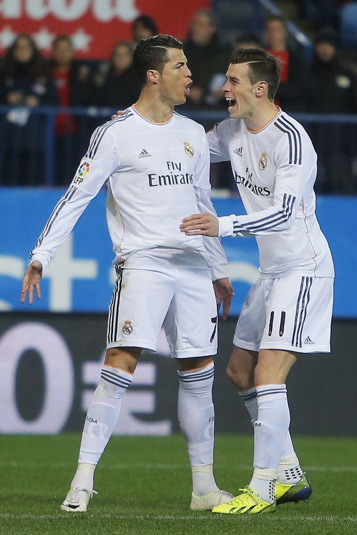 Real-Profis Bale (r.), Ronaldo: Im Achtelfinal-Hinspiel auf Schalke