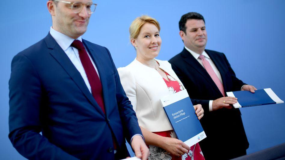 GroKo-Minister Spahn, Giffey, Heil