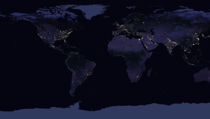 Die Erde bei Nacht: Draufblick
